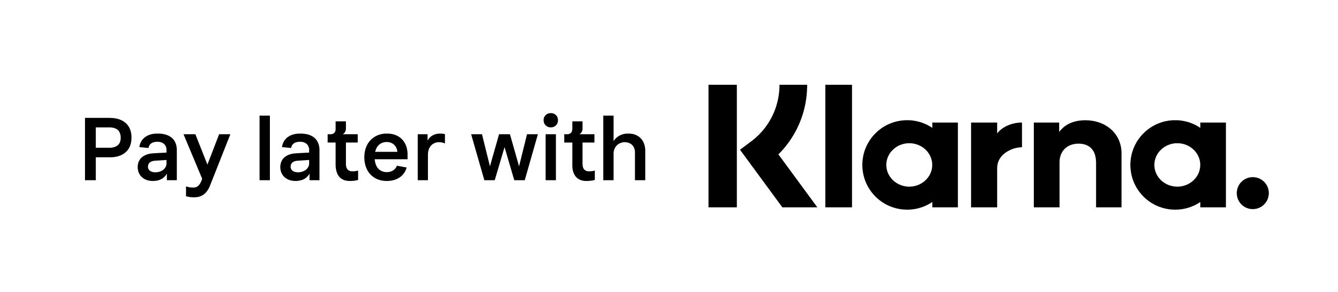 Klarnas logga vit